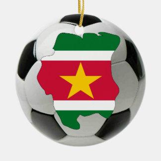 スリナムのフットボールのサッカーのオーナメント セラミックオーナメント