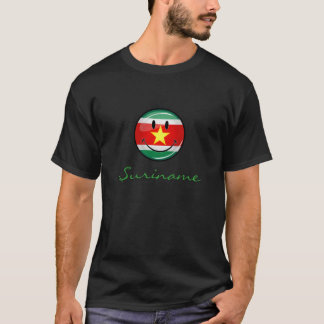 スリナムの光沢のある円形の旗 Tシャツ