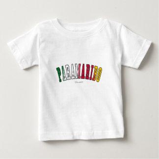 スリナムの国旗色のパラマリボ ベビーTシャツ