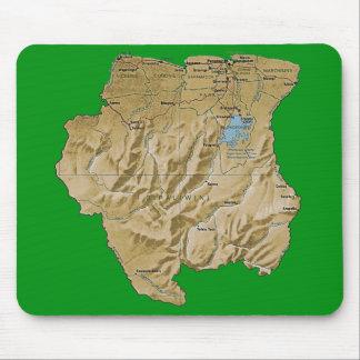 スリナムの地図のマウスパッド マウスパッド