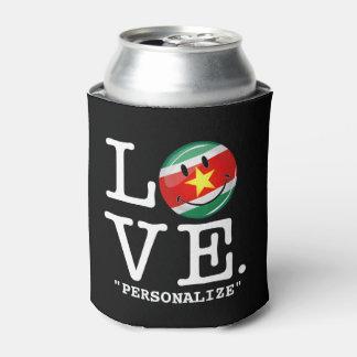 スリナムの微笑の旗からの愛 缶クーラー
