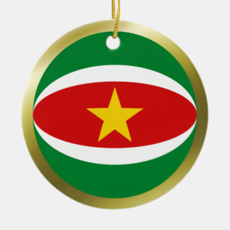 スリナムの旗のオーナメント セラミックオーナメント