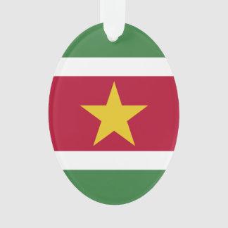 スリナムの旗 オーナメント