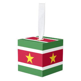 スリナムの旗 キューブオーナメント