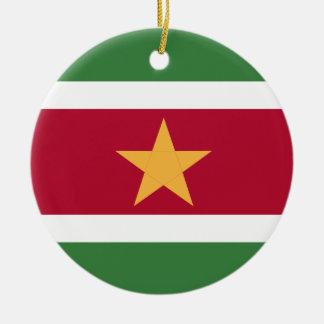 スリナムの旗 セラミックオーナメント