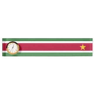 スリナムの旗 デスクネームプレート
