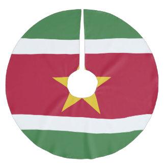スリナムの旗 ブラッシュドポリエステルツリースカート