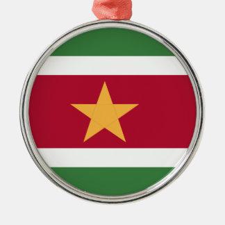 スリナムの旗 メタルオーナメント