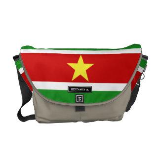 スリナムの旗 メッセンジャーバッグ
