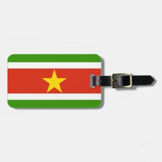 スリナムの旗 ラゲッジタグ