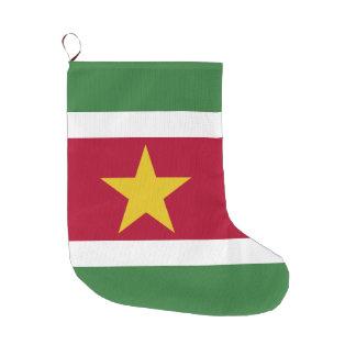スリナムの旗 ラージクリスマスストッキング