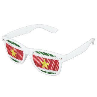スリナムの旗 レトロサングラス