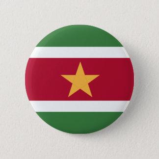 スリナムの旗 5.7CM 丸型バッジ