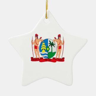 スリナムの紋章付き外衣 セラミックオーナメント