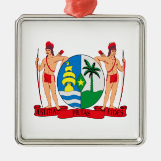 スリナムの紋章付き外衣 メタルオーナメント