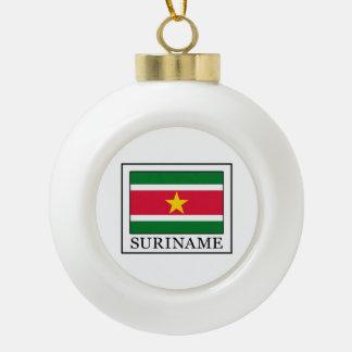 スリナム セラミックボールオーナメント