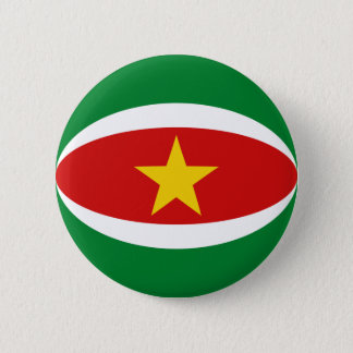 スリナムFisheyeの旗ボタン 5.7cm 丸型バッジ