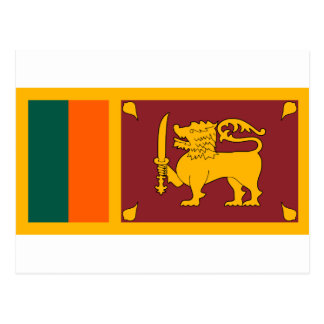 スリランカの国民の世界の旗 ポストカード