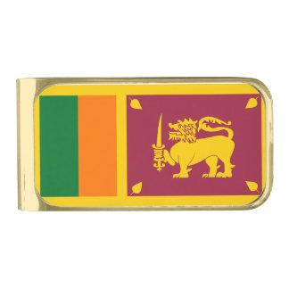 スリランカの島の旗 ゴールド マネークリップ