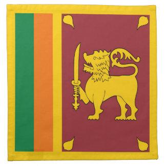 スリランカの旗のナプキン ナプキンクロス