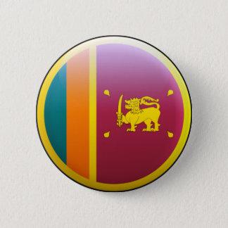 スリランカの旗 5.7CM 丸型バッジ