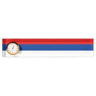 スルプスカ共和国の旗 デスクネームプレート