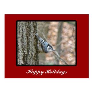 スレートグレーの精神病院のクリスマスの鳴き鳥のクリスマス ポストカード