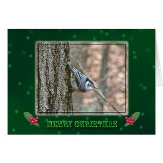 スレートグレーの精神病院のクリスマスの鳴き鳥 カード