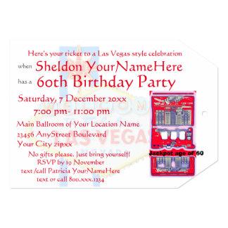 スロットマシンのラスベガスのテーマのパーティー カード