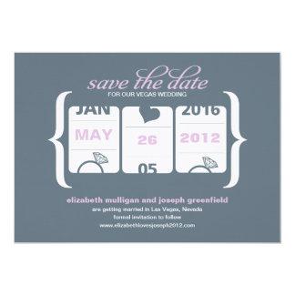 スロットマシンの保存日付-結婚式 カード