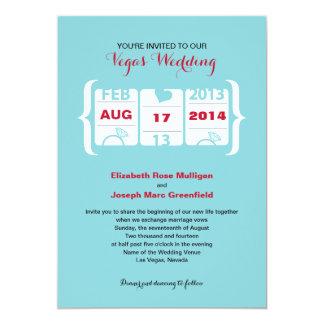 スロットマシンの結婚式招待状 カード