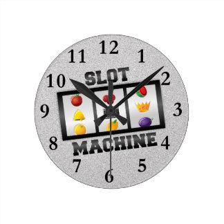 スロットマシン ラウンド壁時計