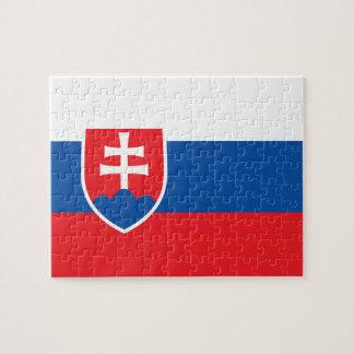 スロバキアの写真のパズルの旗 ジグソーパズル