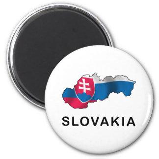 スロバキアの地図 マグネット