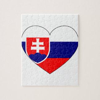 スロバキアの旗のシンプル ジグソーパズル