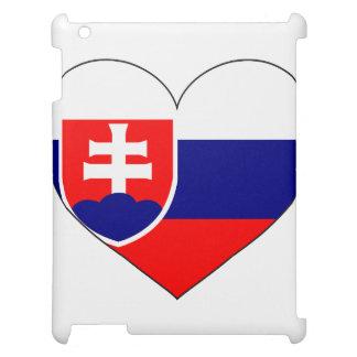 スロバキアの旗のシンプル iPadケース