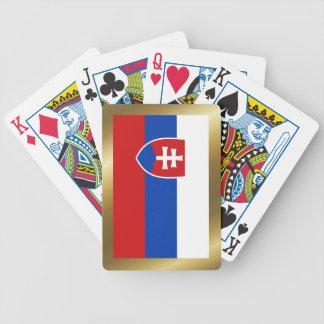 スロバキアの旗のトランプ バイスクルトランプ