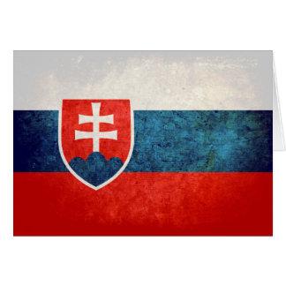 スロバキアの旗 カード