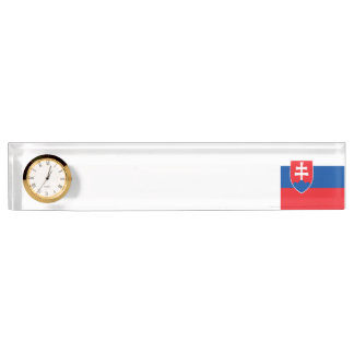 スロバキアの旗 デスクネームプレート
