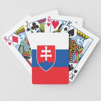 スロバキアの旗 バイスクルトランプ