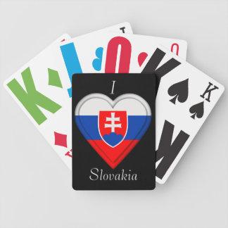 スロバキアのSlovakian旗 バイスクルトランプ