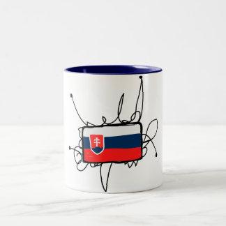 スロバキア ツートーンマグカップ