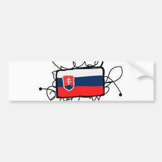 スロバキア バンパーステッカー