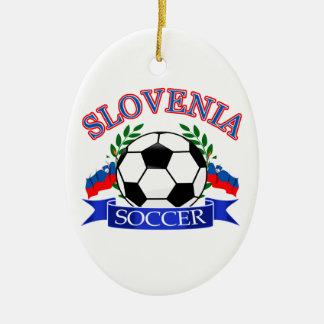 スロベニアのサッカーボールのデザイン セラミックオーナメント