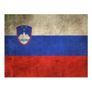 スロベニアのヴィンテージの動揺してな旗 ポストカード