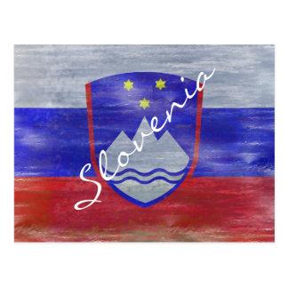 スロベニアの動揺してなスロベニアの旗 ポストカード