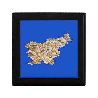 スロベニアの地図のギフト用の箱 ギフトボックス