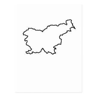 スロベニアの地図 ポストカード