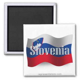スロベニアの振る旗 マグネット