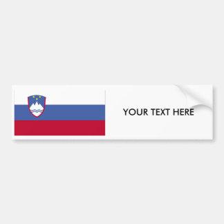 スロベニアの旗のバンパーステッカー バンパーステッカー